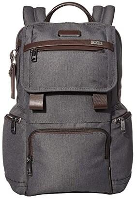 Tumi Alpha 3 Flap Backpack (Black) Backpack Bags