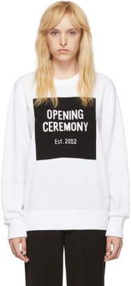 Opening Ceremony White Box Logo Crewneck Sweater
