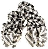Black Tavistock Cashmere and Silk Scarf