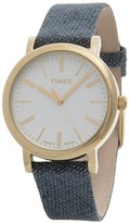 Timex Originals Analog Watch - Leather-Linen Strap (For Women)