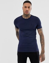Religion crew neck muscle fit t-shirt in navy