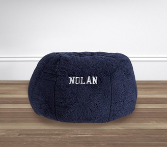 Pottery Barn Kids Navy Cozy Sherpa Anywhere Beanbag Slipcover Only