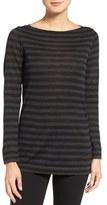 Eileen Fisher Petite Women's Stripe Fine Gauge Merino Knit Tunic Top