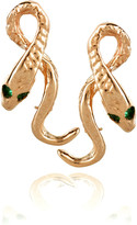 Anita Ko 18-karat rose gold snake earrings