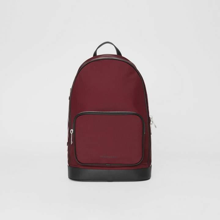 Burberry Icon Stripe Detail Nylon Backpack