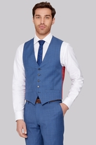 Ted Baker Tailored Fit French Blue Sharkskin Waistcoat