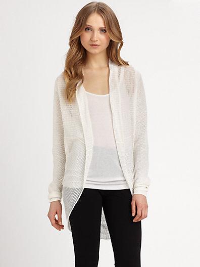 DKNY Linen Cardigan Sweater