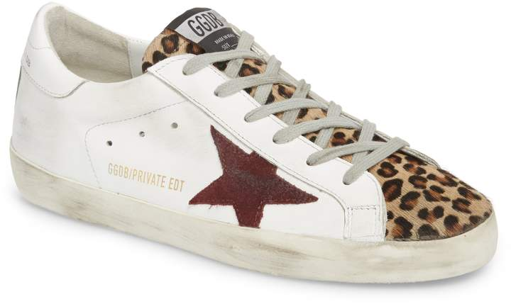 Golden Goose Superstar Genuine Calf Hair Sneaker