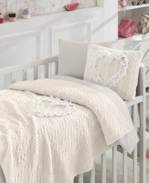 Nipperland Liebe 6 Piece Crib Bedding Set Bedding