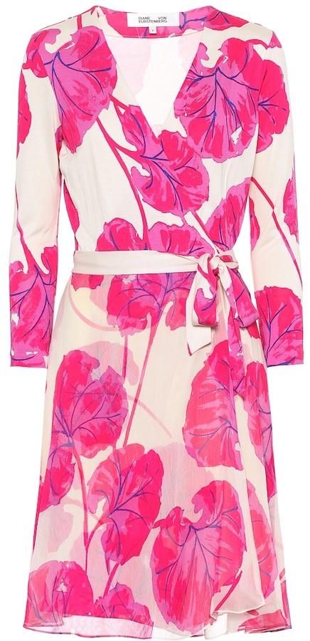 Diane von Furstenberg Irina printed silk wrap dress