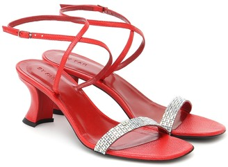 BY FAR Nelly embellished leather sandals