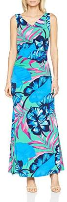 Gina Bacconi Women's Vita Tropical Print Maxi Party Dress,8