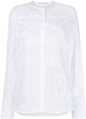 Ermanno Scervino Embroidered Side Slit Shirt