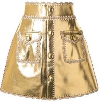 Alice McCall Cool Cat metallic skirt