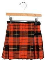 Junior Gaultier Girls' Pleated Plaid Skirt