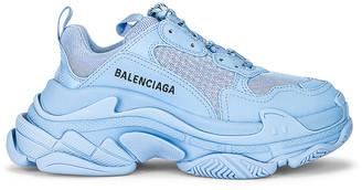Balenciaga Triple S Sneakers in Light Blue | FWRD