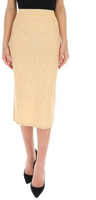 Fendi FF Motif Midi Skirt