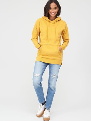 Very Drawcord Fashion Hoodie - Yellow