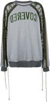 Juun.J drawstring sleeve sweatshirt - men - Cotton/Polyamide/Polyester - S
