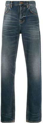 Nudie Jeans acid wash jeans