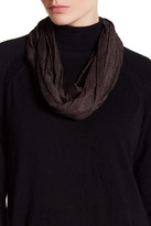 David & Young Faux Suede Perforated Daisy Infinity Scarf
