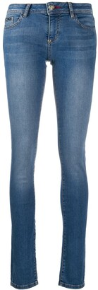 Philipp Plein Teddy Patch-Embellished Skinny Jeans