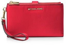 MICHAEL Michael Kors Adele Double Zip Leather iPhone 7 Plus Wristlet