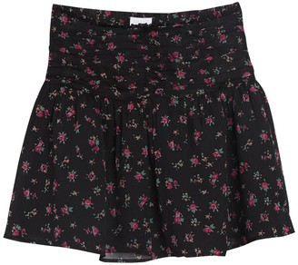 Abound Flirty Floral Ruched Mini Skirt