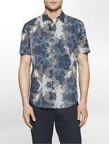 Calvin Klein Mens Classic Fit Linear Ink Short Sleeve Shirt