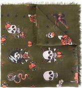 Alexander McQueen tattoo skull scarf - men - Silk/Modal - One Size