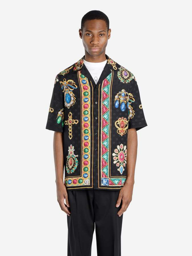 cf7e43d4 Versace Printed Silk Shirts - ShopStyle