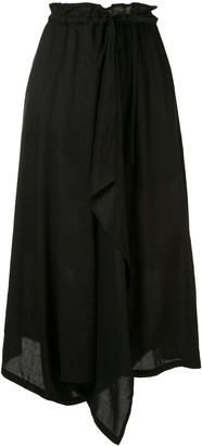 Y's Asymmetric Drawstring Skirt