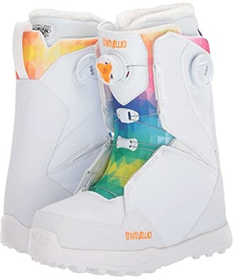 thirtytwo Lashed Double BOA Snowboard Boot (White) Women's Cold Weather Boots