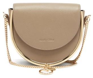 See by Chloe Mara Grained-leather Small Cross-body Bag - Grey Multi