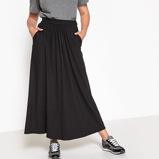 La Redoute Collections Plus Draping Jersey Maxi Skirt