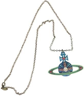 Vivienne Westwood Blue Metal Necklaces