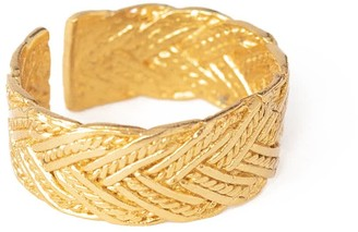 Ottoman Hands Demetra Braided Gold Stacking Ring