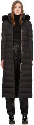 Herno Black Down Maxi Coat