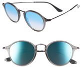 Ray-Ban Women's 49Mm Round Sunglasses - Transparent Blue
