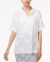 Alfani Oversize Jacquard Shirt, Only at Macy's