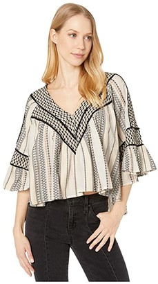 Free People Runnin On A Dream Top (Ivory) Women's Clothing