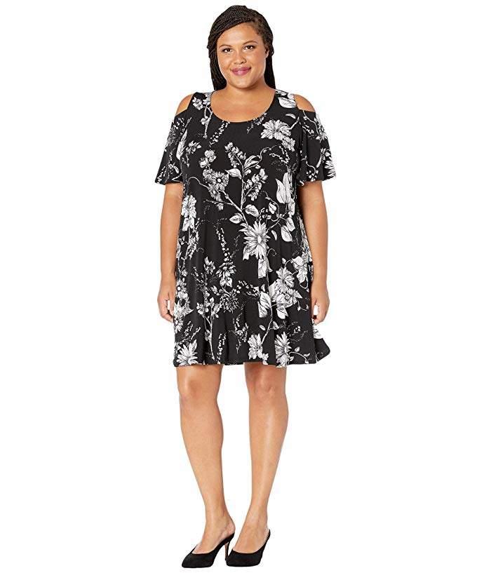 7d1c74339d5 Plus Size Cold Shoulder Dress - ShopStyle