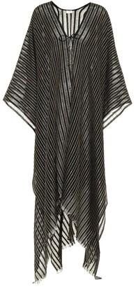 Saint Laurent Striped metallic poncho