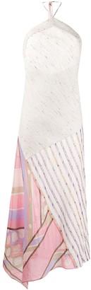 Emilio Pucci Halter Neck Asymmetric Dress