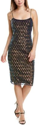 Badgley Mischka Belle By Nya Midi Dress
