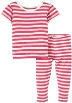 Kickee Pants Print Pajama Set (Baby) - Bubblegum Stripe-0-3 Months