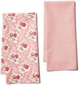 Maison Du Linge S/2 Josephine Tea Towel, Rose