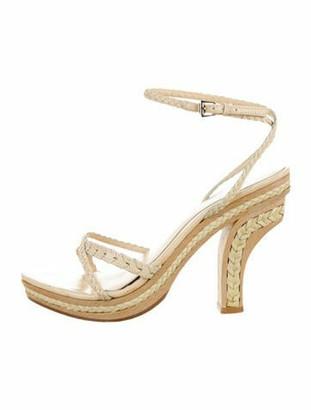 Christian Dior Braided Leather Sandals Beige