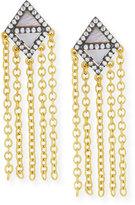 Freida Rothman 14k Vermeil CZ Triangular Chandelier Tassel Earring