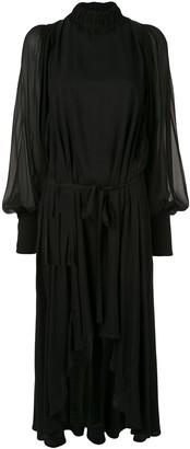 Ann Demeulemeester chiffon blouson dress